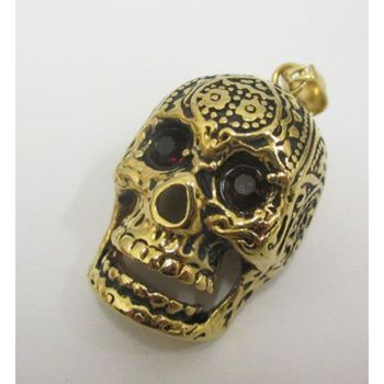 steel red eye skull