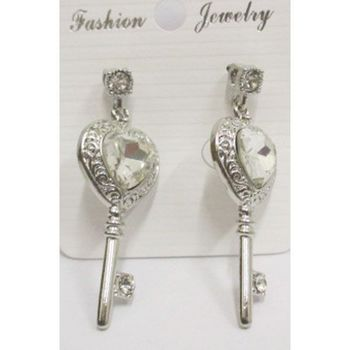 key dangling earrings