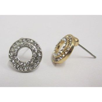 rhinestone round earring at your wholesaler