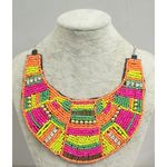 necklace jewelry plastron african color