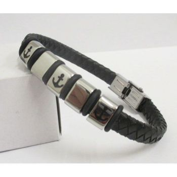 adjustable leather bracelet man