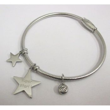 bracelet en acier charms super star