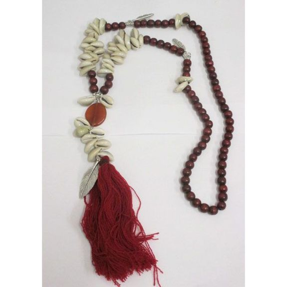 long necklace shell tassel