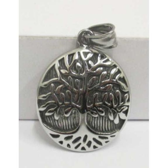 steel pendant tree of life