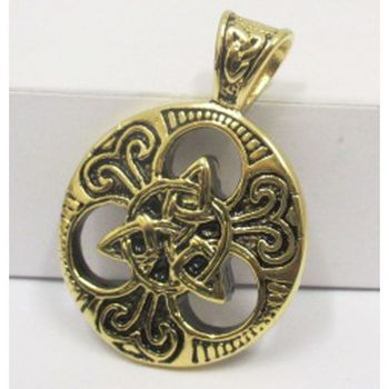 golden celtic talisman steel