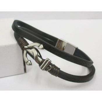 double leather bracelet and anchor