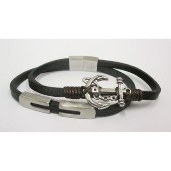 magnetic cord leather bracelet