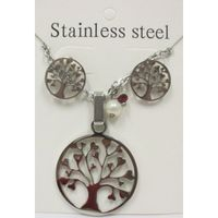 Steel tree life jewelry
