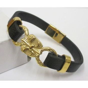 elegant leather jewelry bracelet