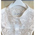 false collar blouse lace to put under vest