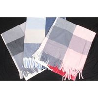 wool viscose scarf with square