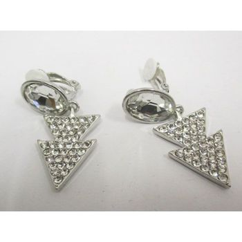triangle clip earring