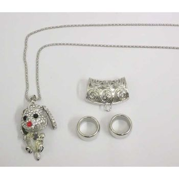 lot jewelry clip with pendant for scarf