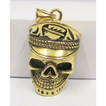 medallion head of death cap in gold