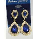 Sale blue gold plated earrings