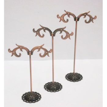 3 metal jewelry trees for earrings