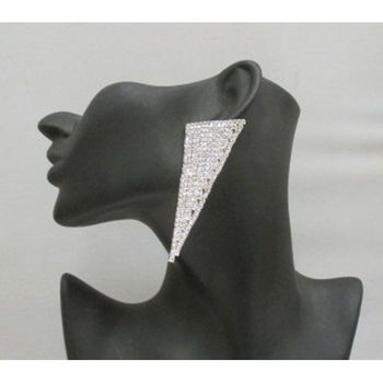 boucle d oreilles triangle strass grossiste