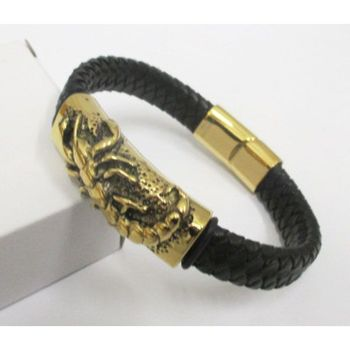 scorpion bracelet in gold