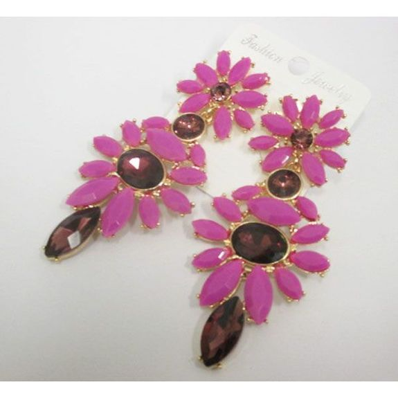 collection bright colored fancy earring