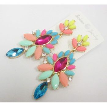 colorful dangling earrings