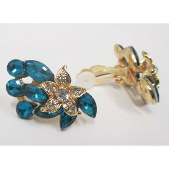 fancy flower clip earring wholesaler