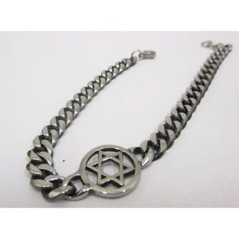 Star of David steel bracelet