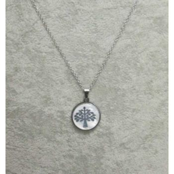 pearl steel tree of life pendant