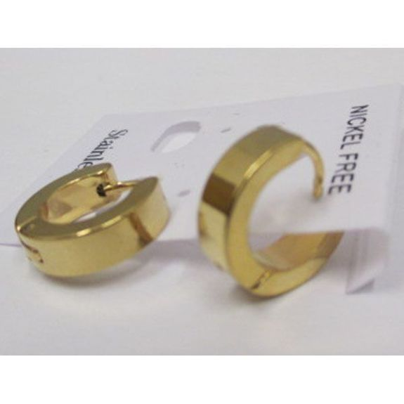 golden steel earrings man wholesaler