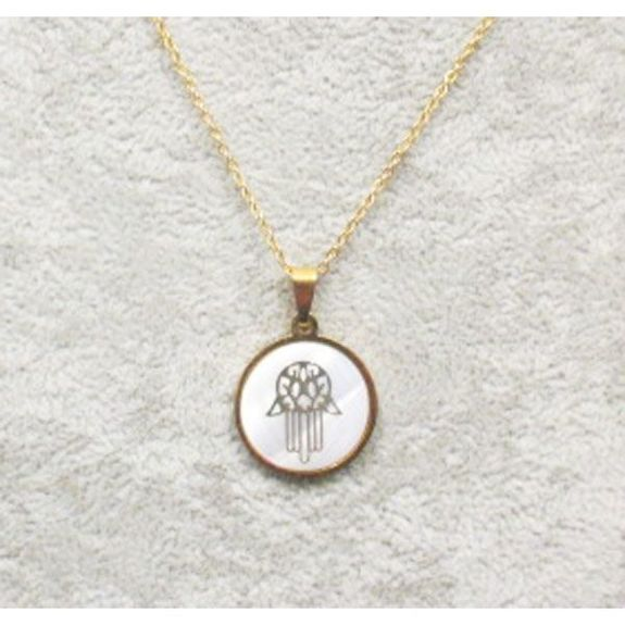 handmade mother of pearl silver pendant