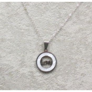 mother of pearl pendant love