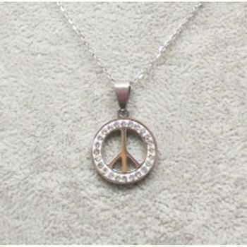 crystal steel pendant peace