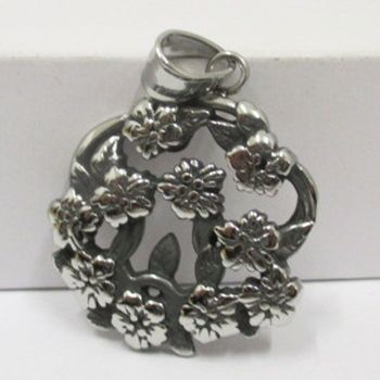 stainless steel pendant bunch of flowers