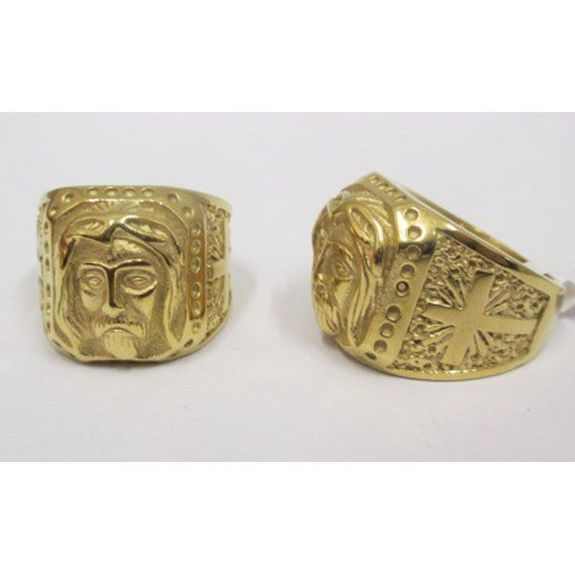 signet ring Jesus steel