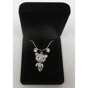 fancy necklace pendant teddy bear