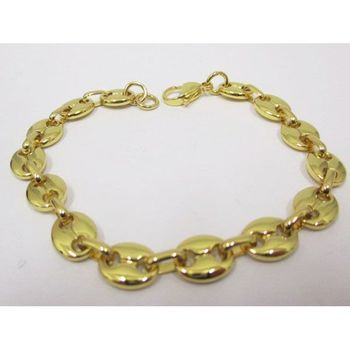 golden brown coffee bean bracelet