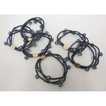 cord bracelet to attach hair