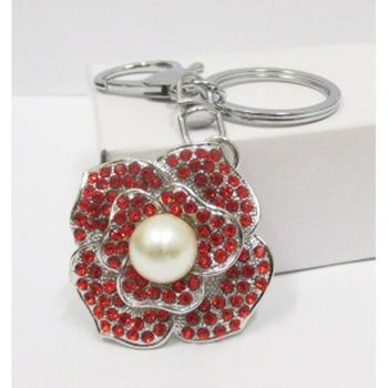 jewelry keychain flower pearl wholesaler