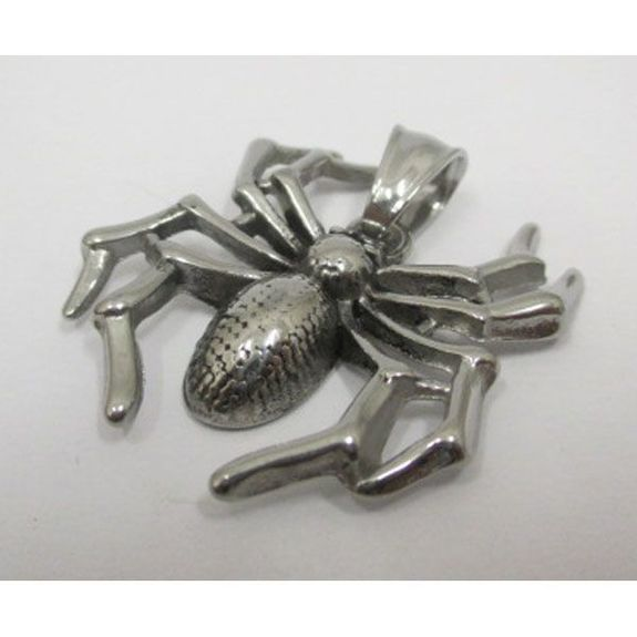 spider pendant in stainless steel