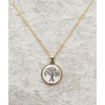 medallion steel mother of pearl tree of life