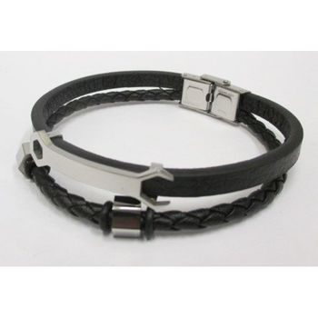 wristwatch man leather bracelet