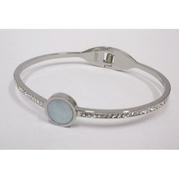 Mother-of-pearl and crystal bracelet