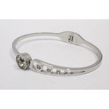 Stainless Steel Diamond Bangle Bracelet