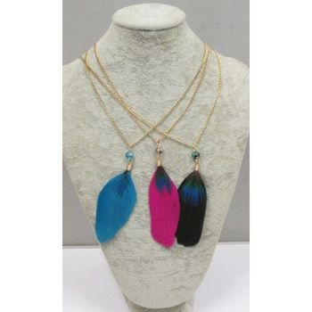 necklace with feathers
