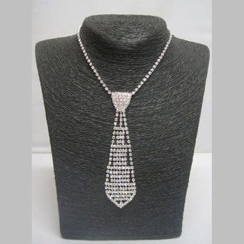 Collier Strass Cravate