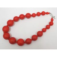 jewelry necklace retro red wooden beads