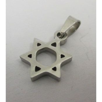 steel Star of David pendant