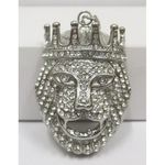 hip hop pendant jewelry: lion crystal crown
