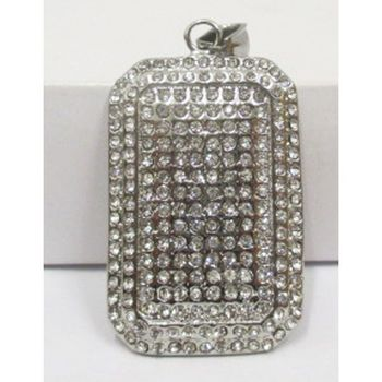 hip hop pendant jewelry: steel crystal plate