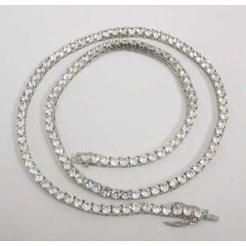 hip hop diamond river necklace