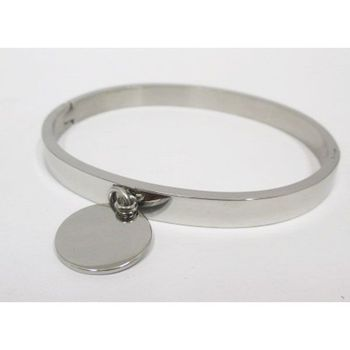 steel bracelet with medal